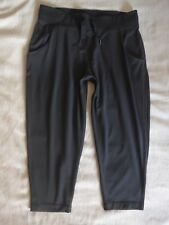 Lululemon Free Fall Crop Pants Dark Charcoal Grey Sz 12