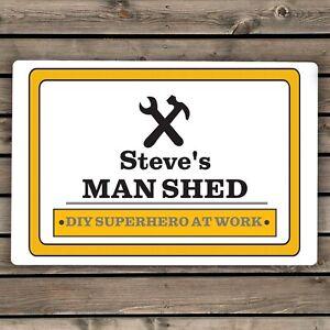 Personalised Man At Work Sign
