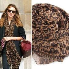 Echarpe Mode longue en mousseline léopard châle Lady Wrap pour femme