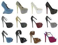 Ermax Women's Stiletto High Heel Stripper Exotic Dancer Club Platform Shoes