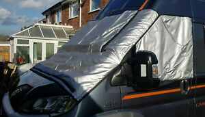Motorhome Thermal Silver Screen Covers Fiat Ducato, Citroen Peugeot extra long