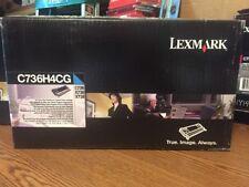 New OEM Lexmark C736H4CG Cyan Toner Cartridge C736 X736 X738