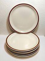 "Vintage WOODHAVEN Japan Sandusky Stoneware 10.5"" Dinner Plate Set of 6"
