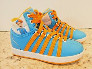 K-Swiss Kids Blippi VN Classic Mid 56185-906 Blue Leather Shoes Lace Up Size 11