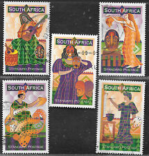 SOUTH AFRICA 1999 NATIONAL ARTS FESTIVAL COMPLETE POSTAL USED SET 1425