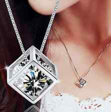 Fashion Infinite Charm Silver Magic Cube Pendant Necklace Chain Vogue Jewelry
