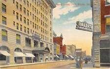 Fort Wayne Indiana Berry Street Scene Store Fronts Antique Postcard K23218