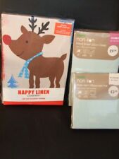 Happy Linen Company Double Christmas Duvet Set & Fitted Sheet Pillowcases