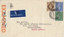 AVIATION :1944 Airmail cover to S.Africa-PLEASE INFORM SENDER /AIR MAIL SERVICE.