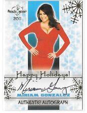 Miriam Gonzalez signed 2014 Benchwarmer Happy Holidays trading card
