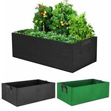Rectangle Garden Grow Bags Fabric Plant Bed Planting Flower Vegatable Container