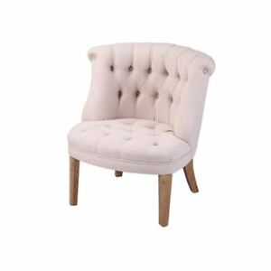 Liliane Tufted Linen Tub Chair