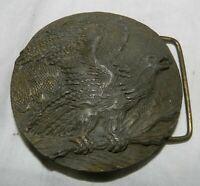 Vintage Brass Eagle Belt Buckle, JR Gray, J67, Indiana Metal Craft