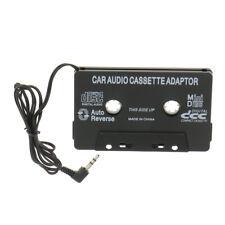 Coche Adaptador De Cassette cinta 3.5mm AUX audio para teléfono MP3 reproductor de CD