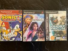 Lot Of 3 Playstation 2 Video Games Sonic Plus, Final Fantasy x-2, Ghost Recon