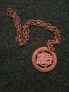 WWE John Cena Hustle Loyalty Respect Spinner Chain Pendant Necklace 2008...