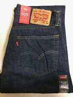 Levi's Men's 505 Jeans $27 OFF Sizes 30, 31, 32, 33, 34, 36, or 38W Straight Lg