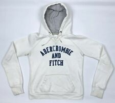 ABERCROMBIE & FITCH Hoodie White Hoody Pullover Jumper Medium Women's