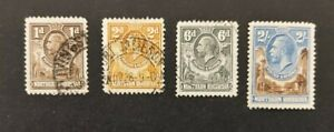 Northern Rhodesia 1925, 4x stamps mh & vfu