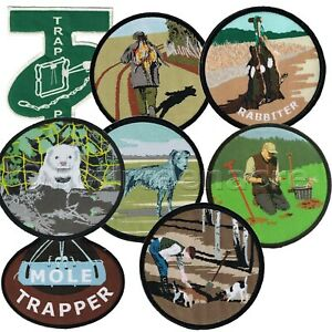 Fieldsports Patches / sew on badges (ferrets, shooting, lurcher, trapper)
