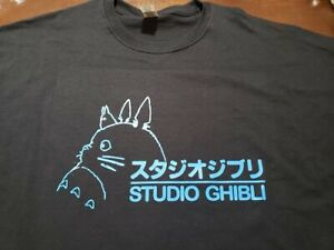 STUDIO GHIBLI My Neighbor totoro Blue Anime T shirt tee