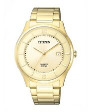 Citizen Men's Watch with Metal Band bd0043-83p Analog Stainless Steel Gold