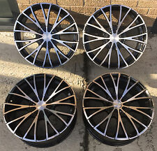 "18""  GLOSS BLACK POLISHED FACE  ALLOY WHEELS FORD C MAX MONDEO FOCUS 5X108"