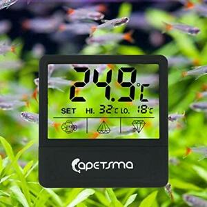 Aquarium Thermometer, Digital Touch Screen Fish Tank Thermometer With Large LCD