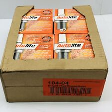 LOT OF 12 PACK OF 4 AUTOLITE 104 COPPER RESISTOR SPARK PLUGS