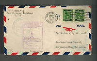 1929 Cristobal Panama Canal Zone First Flight Cover to Cartagena Colombia FFC