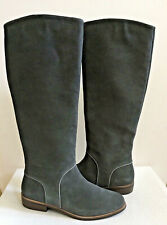 UGG GRACEN DALEY GREY GRAY TALL SUEDE EQUESTRIENNE BOOTS US 7 / EU 38 / UK 5.5