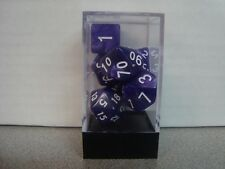 Dice Polyhedral 7-Die Pearl Purple New In Acrylic Case