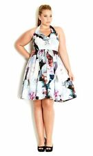 City Chic BNWT Spring Floral Halter Formal Dress Plus Size XS RRP $159.95