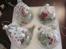 "Lenox Crystal Christmas Ornaments Filled With Decor, Nib 3 1/2"" [a4Ornaments]"