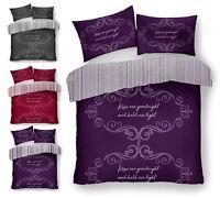 GOODNIGHT Luxury Reversible Duvet Quilt Cover + Pillow Case Bedding Set All Size