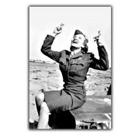 Marlene Dietrich-blonde Venus jeep Willis sexy woman Nice War Photo WW2 4x6 V