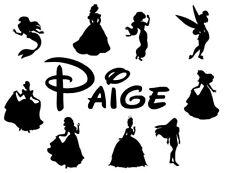 Disney Princess Name vinyl wall stickers decor/decals girl/boy nursery