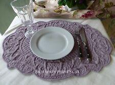 Tischset Platzset Flieder Deckchen Baumwolle gesteppt Shabby Landhaus Deko