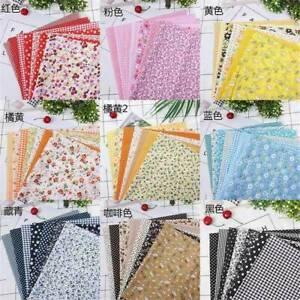 7Pcs DIY Colourful 100% Cotton Fabric Assorted Pre-Cut Fat Quarters Bundle US