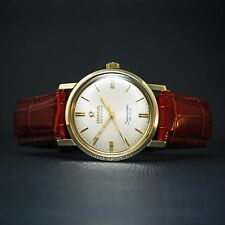 Rare Omega B6671 Automatic Seamaster DeVille 14K Solid Gold Midsize Man's Watch