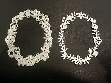 Sizzix Die Cutter & Embosser  FLOWER WREATH FRAME LEAVES fits Big Shot Cuttlebug