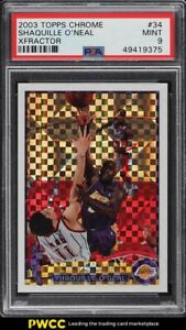 2003 Topps Chrome Xfractor Shaquille O'Neal /220 #34 PSA 9 MINT