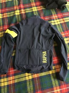 Rapha pro team navy hi viz  training chartreuse jacket A+++ Shape!! cycling med