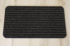 Paillasson Paillasson Gazon artificiel rayé marron noir 40x70cm