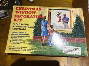 Vintage Christmas Window Decorating Kit Box  Only