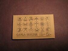 Sweden Stamp Booklet Scott# 1550A Trade Signs 1985 Mint L1