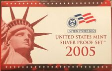 2005 Silver Proof 10 Coins with original box and COA