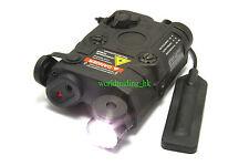 Airsoft Dummy PEQ 15 LED Flashlight + Red Laser + Wire Remote Control (BLACK) US
