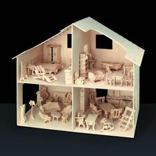 """Pebaro Holzbausatz """"Puppenhaus"""" mit Möbel 40 x 37 cm"""