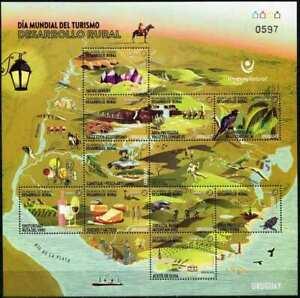Uruguay 2020 Rural Tourism, Fauna, Gastronomy, Drinks, Wine, Minerals MNH**